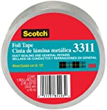 "Scotch 3311 Aluminum Foil Tape, 2"" x 10 yd, 3.6 mL, Silver"
