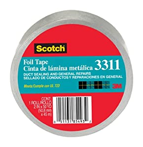 3M 3311-10A Scotch Foil Tape, 2.0 in x 10 yd (50.8 mm x 9,1 m)