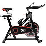 JLL IC300 Indoor Cycling exercise bike, Fitness Cardio workout with adjustable resistance,18Kg flywheel which allows a smooth ride,Ergonomic adjustable handle bar and fully adjustable seat.12 months warranty