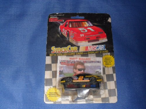 1991 NASCAR Racing Champions . . . Rusty Wallace #2 Mobil 1 Pontiac Grand Prix 1/64 Diecast . . . Includes Collector's Card and Display Stand - 1