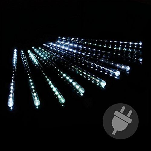 Lichterregen lichterkette 180 led meteor effekt party for Weihnachtslichterketten innen