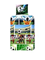 GOOD MORNING Juego De Funda Nórdica  Soccer (Multicolor)