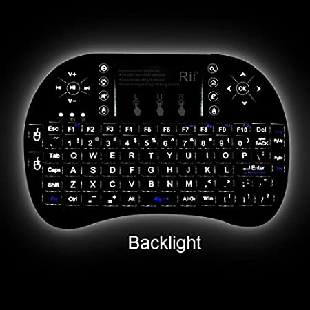 Features:92 keys, 2.4GHz wireless Keyboard with Touchpad. Touchpad DPI adjustable functions. Built-in high sensitive smart touchpad with 360-degree flip design. A new broken in classic Rii Mini i8+ new increased LED backlit function, you can us it in...
