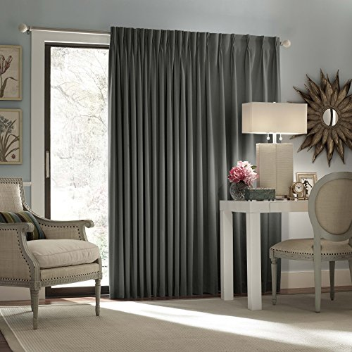 Eclipse Thermal Blackout Patio Door Curtain Panel, Charcoal (Blackout Curtains For Patio Doors compare prices)