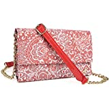 Coral Red Paisley Weekender Crossbody Bag For QMobile Noir Z5 Z6 Z7 Z8 Z8 Plus Z9, M300, QMobile Linq L15 L10 | Cases and Covers