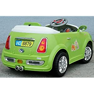 Ride on Mini Style Sports Car with Parental Remote Control in Green