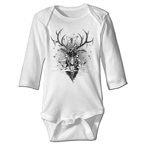 buy Funny Vintage Unisex Moth Eaten Deer Head Baby Clothes Baby Boys for sale