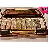 Tmalltide 9 Colors Diamond Bright Colorful Eye Shadow Eyeshadow Super Flash Glitter Eyeshadow (6#)