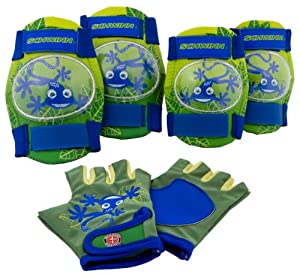 Schwinn Boy's Pad Set with Knee Elbow and Gloves