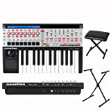 Novation 25 SL MKII 25-Key MIDI Keyboard Controller Package