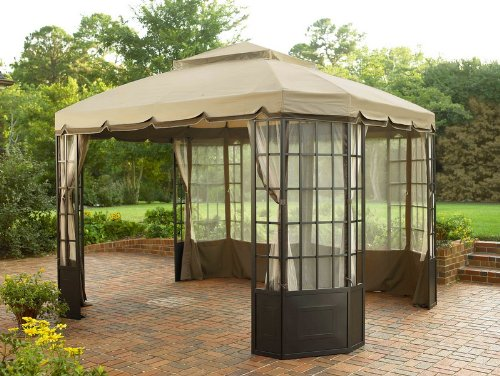 Sears / Kmart Garden Oasis Bay Window Gazebo Canopy (Replacement Fabric Canopy Top Only) & Coleman Gazebo: Sears / Kmart Garden Oasis Bay Window Gazebo ...