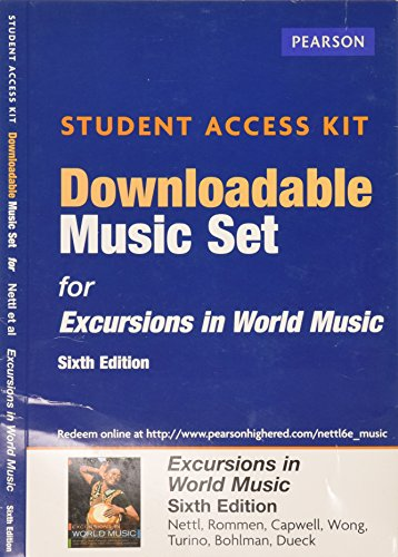 Excursions in World Music -- Downloadable Music Set -- Student Access Card