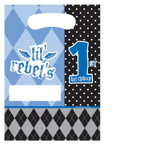 Creative Converting Rebel First Birthday Loot Bags, 8 Count