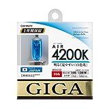 カーメイト 車用 ハロゲン GIGA エアー H4 4200K ホワイト BD432