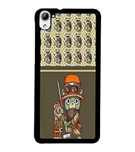 PrintDhaba Cartoon D-4315 Back Case Cover for HTC DESIRE 826 (Multi-Coloured)