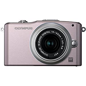 Olympus Pen E-PM1 12.3 MP Digital Camera with CMOS Sensor and 3 x Optical Zoom (Pink)