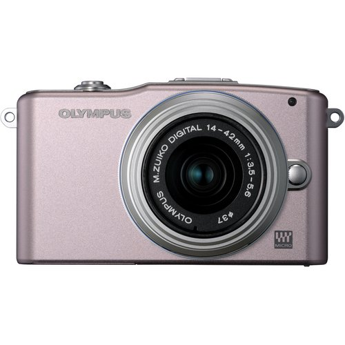 Olympus V206011PU000 Pen 12.3 MP CMOS Sensor Digital Camera with 3xOptical Zoom and 3-Inch LCD Screen (Pink)