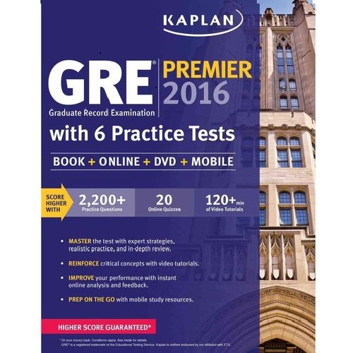 GRE Premier 2016 with 6 Practice Tests