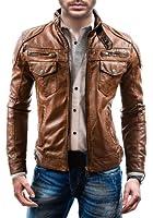BOLF - Veste - Faux cuir - Fermeture éclair - LIBLAND 3395 - Homme