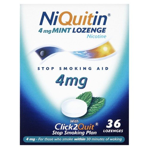 Niquitin Lozenges 4mg Mint - 36 Lozenges