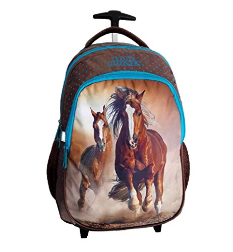 aebddee3ce zaino trolley scuola Cavallo bianco LOVE HORSES , ragazza, bambina ...