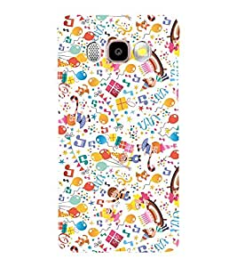 KIDS ENJOYMENT STUFF IN AN ABSTRACT PATTERN 3D Hard Polycarbonate Designer Back Case Cover for Samsung Galaxy J7 (2016) :: Samsung Galaxy J710F :: Samsung Galaxy J7 (2016) Duos with dual-SIM card slots