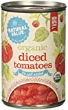 Natural Value Organic Diced Tomatoes, No Salt Added, 14.5 Ounce (Pack of 12)
