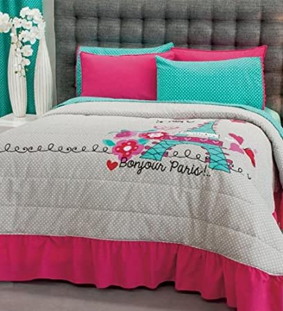 Limited Edition PARIS Bedding Collection - Bedspread Set, Sheet Set and Window Panels (FULL/QUEEN)