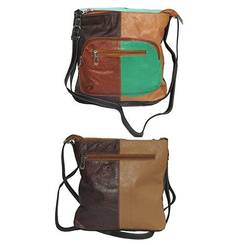 NAZ Women Multi-coloured Leather Sling Bag