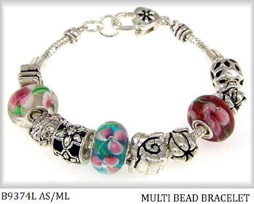 Pandora Style Bracelets Springtime Butterfly Flower B9374L ASML