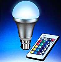 Auraglow BC/B22 Remote Controlled Colour Changing Light Bulb from Auraglow