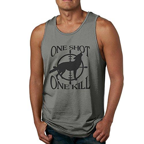 KTKY Man's One Shot - One Kill Athletic Basic Tank Top Top Small DeepHeather