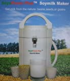 Soyapower Plus Soy Milk Maker, Rice Milk Maker, Nut Milk Maker, and Soup Maker, Largest Capacity, with 2-year Warranty