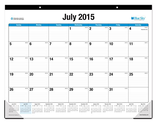 Blue Sky 2015 2016 Academic Year Desk Pad Calendar