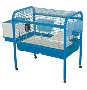 Amazon.com : Marchioro Luna 82 Cage for Small Animals with Wheels, 32