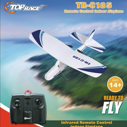 Top-Race-Cessna-C185-Electric-2-Ch-Infrared-Remote-Control-RC-Airplane-Ready-to-Fly-Colors-Vary