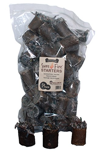 Buy Discount Walden Sure-Fire Starters Easy to Light 50 Pack for Charcoal Grills Fireplaces Campfire...