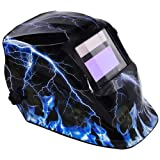 Lightning Skull Design Hood Solar Auto Darkening Welding Helmet