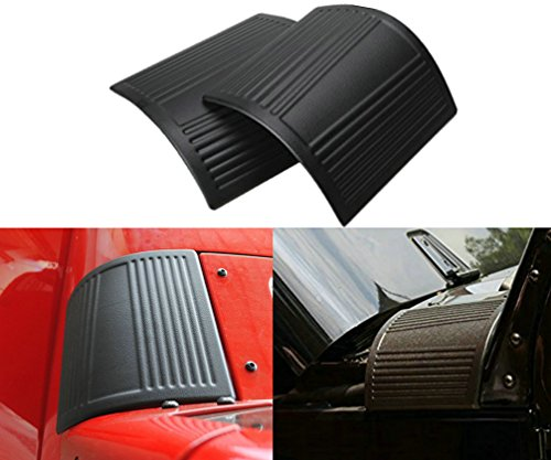 Sunluway® 2015 Latest Durable Black Cowl Body Armor – Pair For Jeep Wrangler Rubicon Sahara Jk & Unlimited 2007-2015