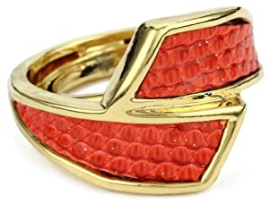 KARA by Kara Ross Classic Wrap Adjustable Ring, Coral Lizard by KARA+by+Kara+Ross