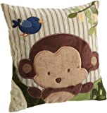 Kids Line Jungle 123 Throw Pillow, Brown