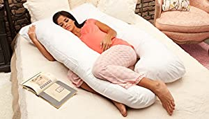Naomi Home Cozy Body Pillow White