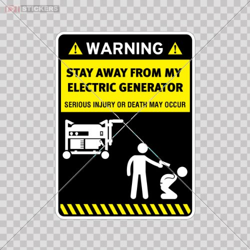 Humor Decal Vinyl Stickers Danger Warning Stay Away From My Electric Generator Car Window Wall Art Decor Doors Helmet Roommates Motorcycle Note Book Garage Size: 4 X 3 Inches Vinyl Color Print