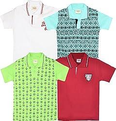 TONYBOY Boy's Polo T-Shirt (Combo Pack Of 4)