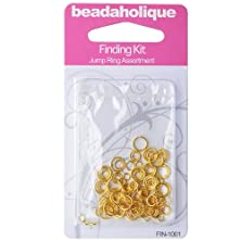 buy Gold Plated Findings Kit - Assorted Jump Rings 4-8Mm 20-18 Gauge (125)