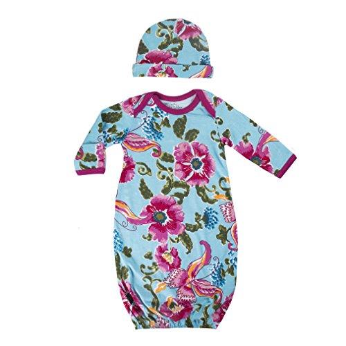 Baby Be Mine Newborn Gown and Hat Set (Newborn 0-3 Months, Isabelle)