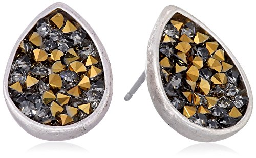 Kenneth Cole New York Two-Tone Faceted Bead Teardrop Stud Earrings