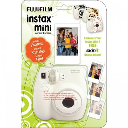 Fujifilm Instax-7s Kit: White 7s body, 1 pack of film &