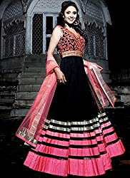 Feeldeal Net Embroidered Semi-stitched Salwar Suit Dupatta Material