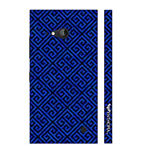 Nokia Lumia 730 Blue Greecian Pattern designer mobile hard shell case by Enthopia